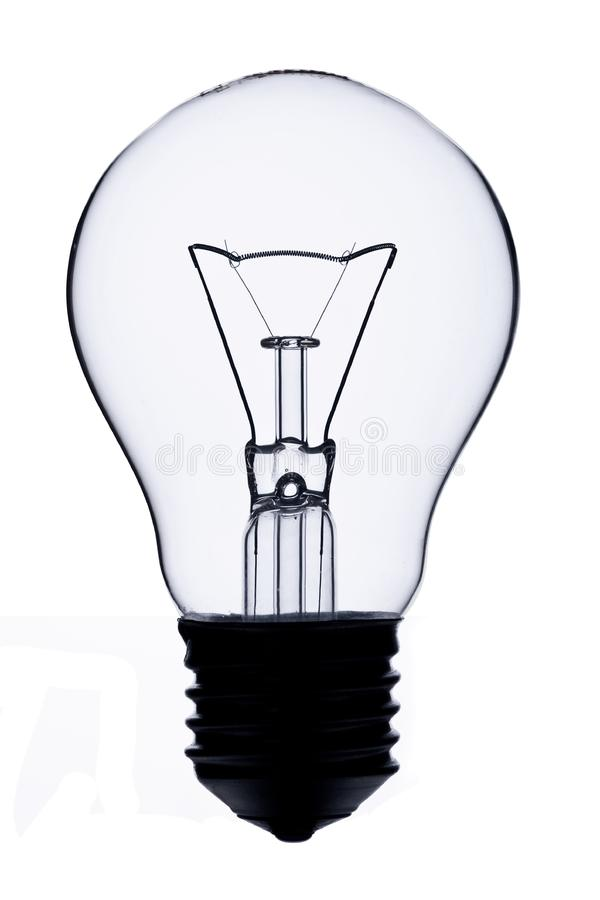 Light bulb isolated stock images