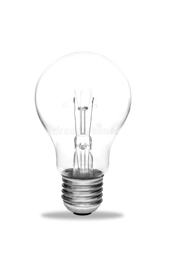 Light bulb, isolated royalty free stock image