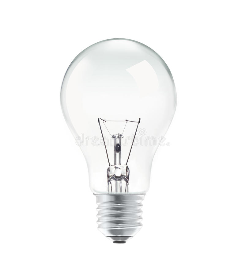 Light bulb isolated on white background stock images