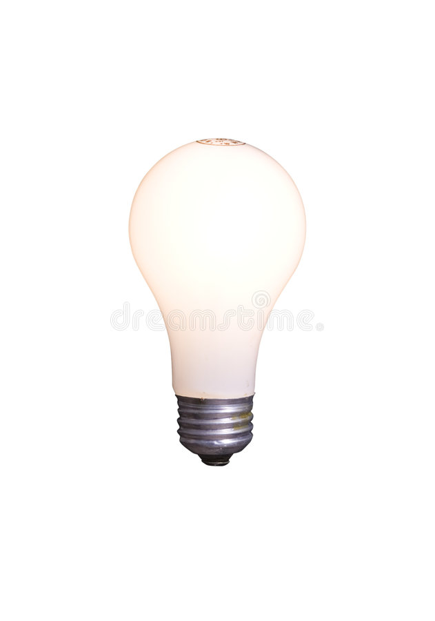 Light Bulb Isolated on White with Clipping Path royalty free stock photo