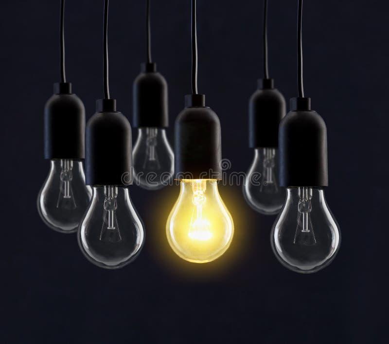 Light bulb lamps stock photography