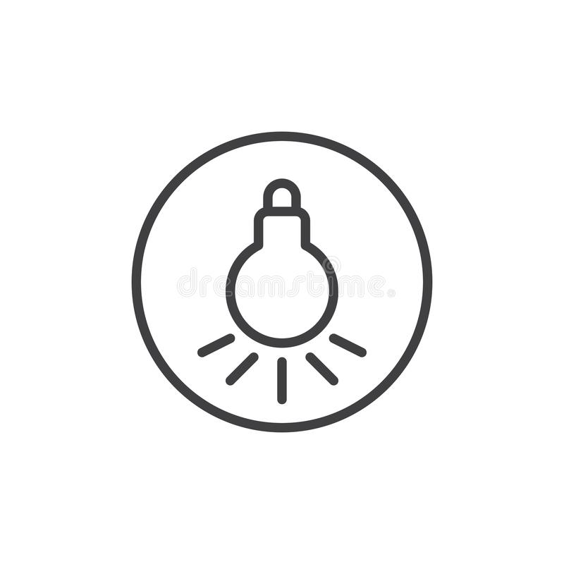 Light bulb line icon vector illustration