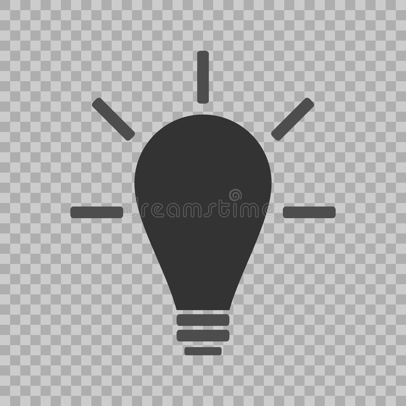 Light Bulb line icon vector, isolated on transparent background. Idea sign, solution, thinking concept. Lighting Electric lamp. El. Ectricity, shine. Trendy Flat vector illustration