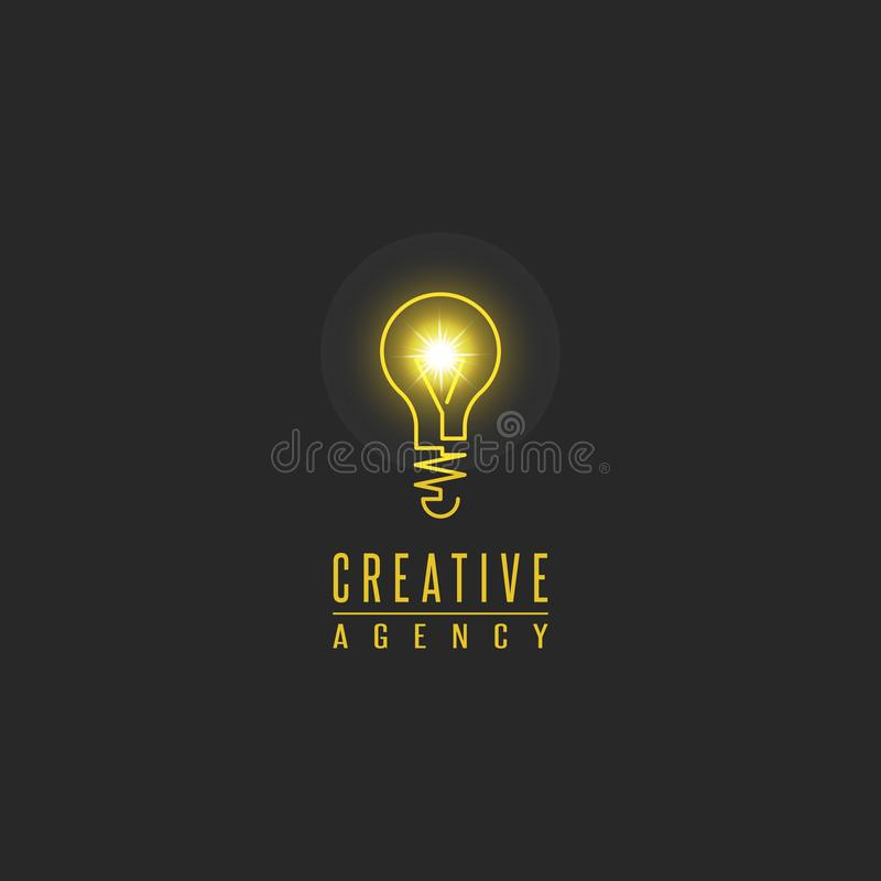Free Light Bulb Logo, Lamp Shine Creative Innovation Sign, Web Development, Advertising, Design Agency Emblem, Idea Power Technology Royalty Free Stock Photo - 141058435