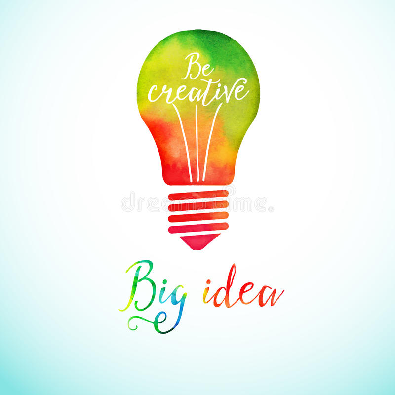 Download Light Bulb Made Of Watercolor, Lightbulb And Stock Vector    Illustration Of Learning,