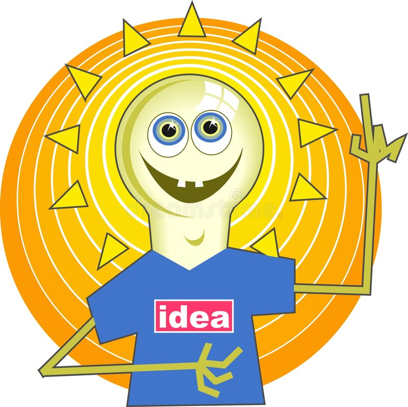 Download Light Bulb Man stock vector. Image of bright, clipart, think - 45772