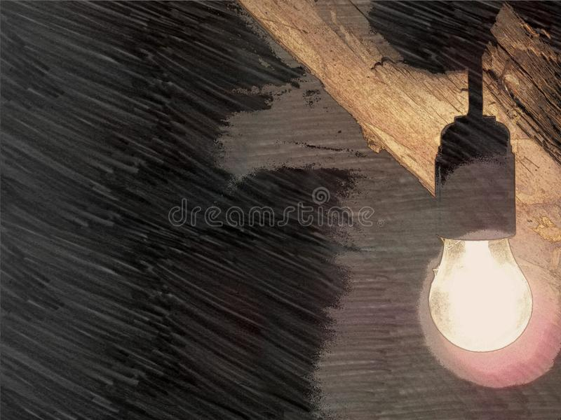 The light bulb that means the idea. stock images