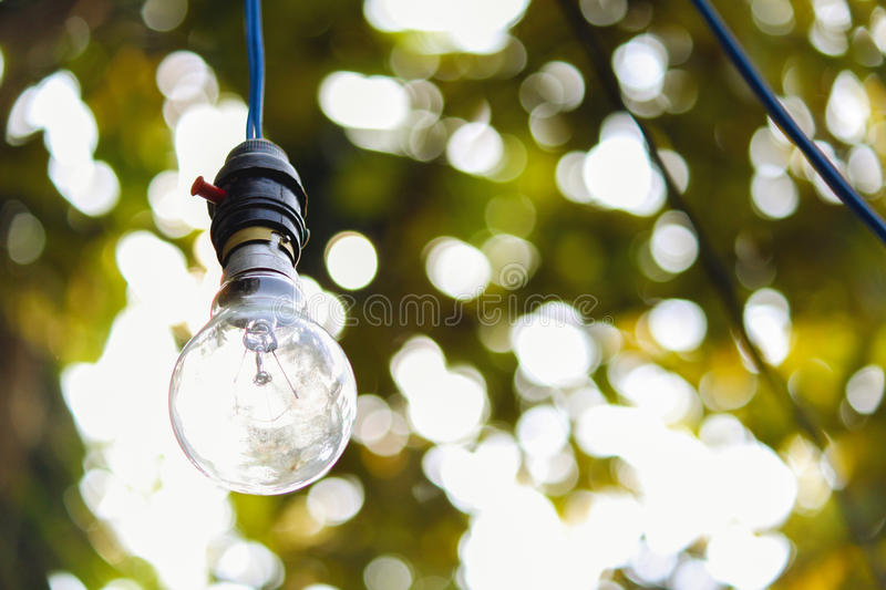 Light bulb out door at day time stock photos
