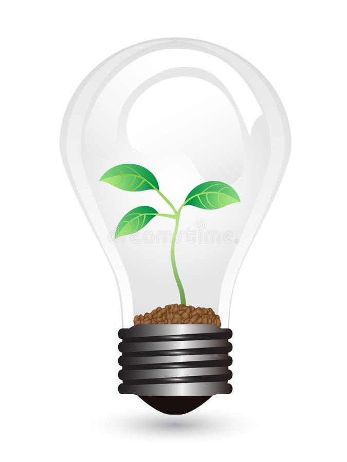 Light bulb plant vector illustration