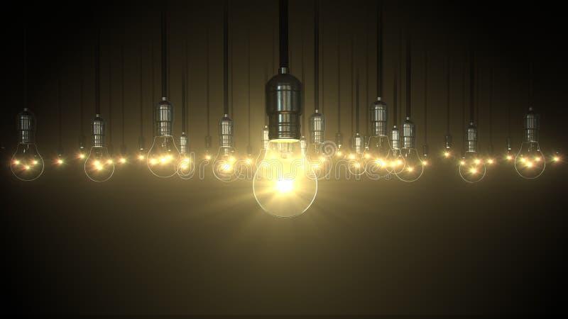Light bulb swing glow rising, stock photo