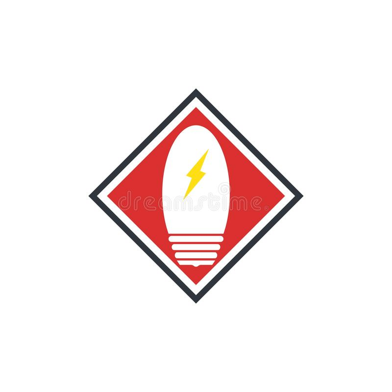 light bulb symbol icon vector illustration