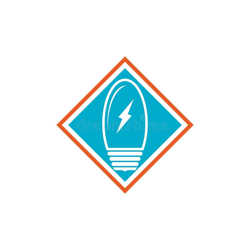 light bulb symbol icon stock illustration