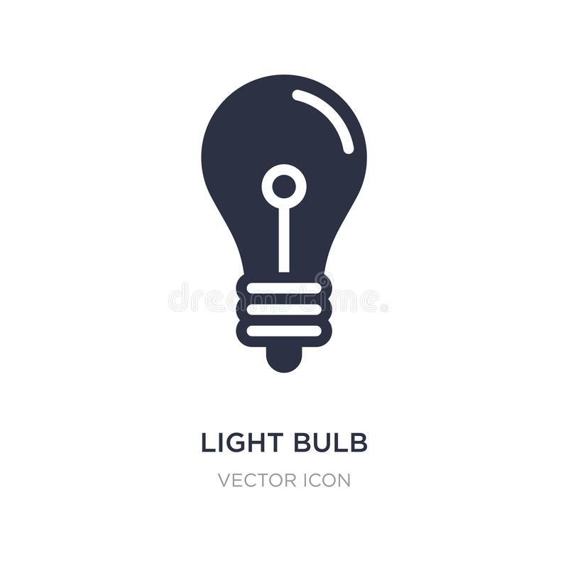 light bulb turned off icon on white background. Simple element illustration from Technology concept royalty free illustration