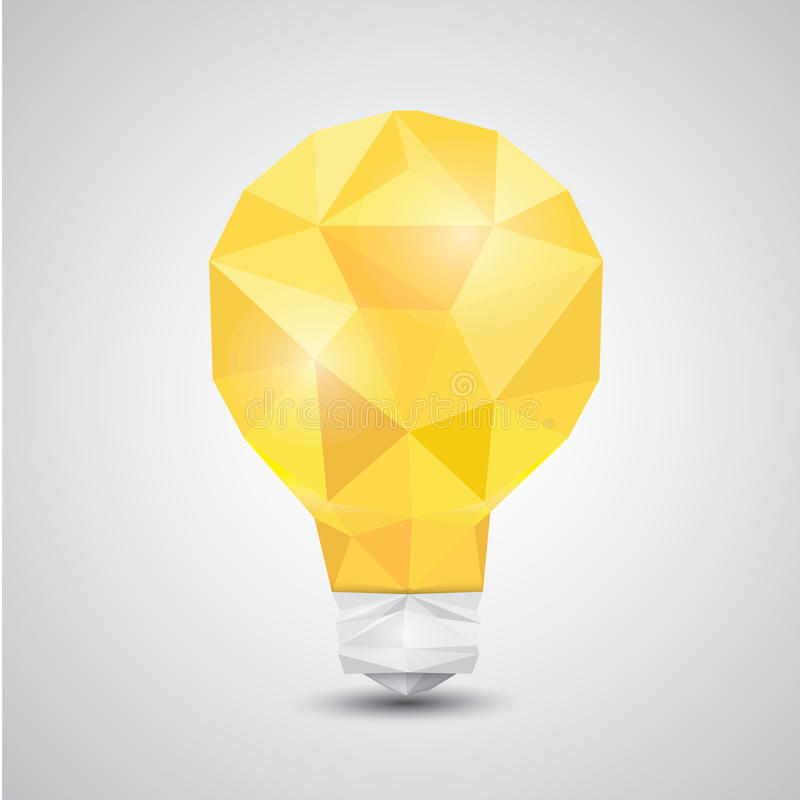 Free Light Bulb Vector Icon Low Poly Style. Royalty Free Stock Photography - 51763067