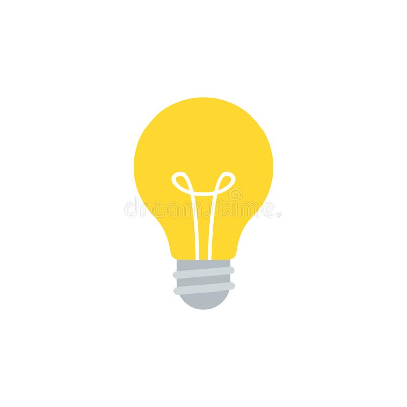Free Light Bulb Vector Illustration Isolated On White Royalty Free Stock Image - 111638946
