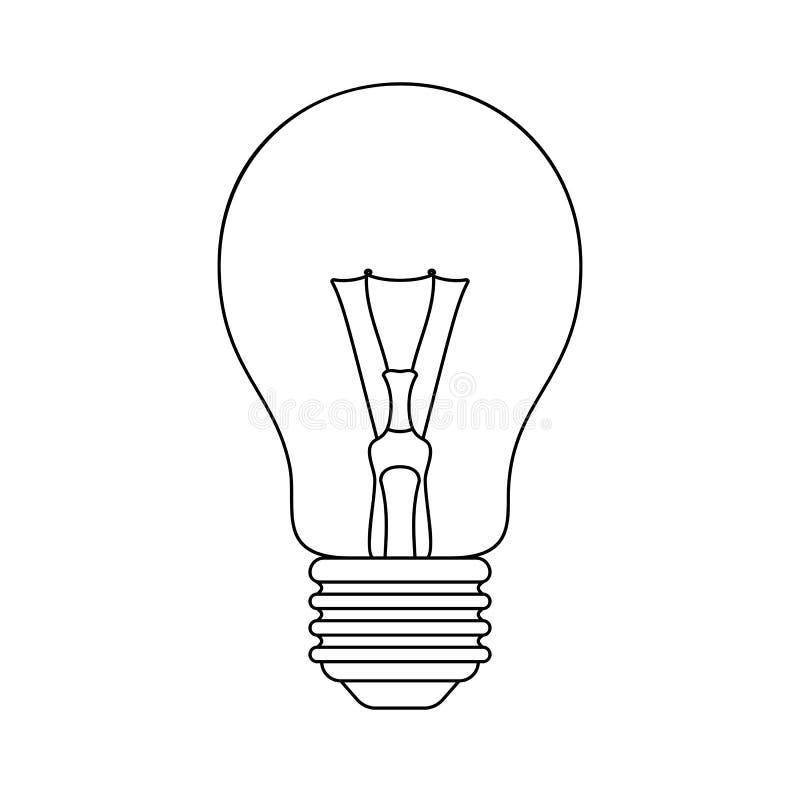 Light bulb vector stock illustration