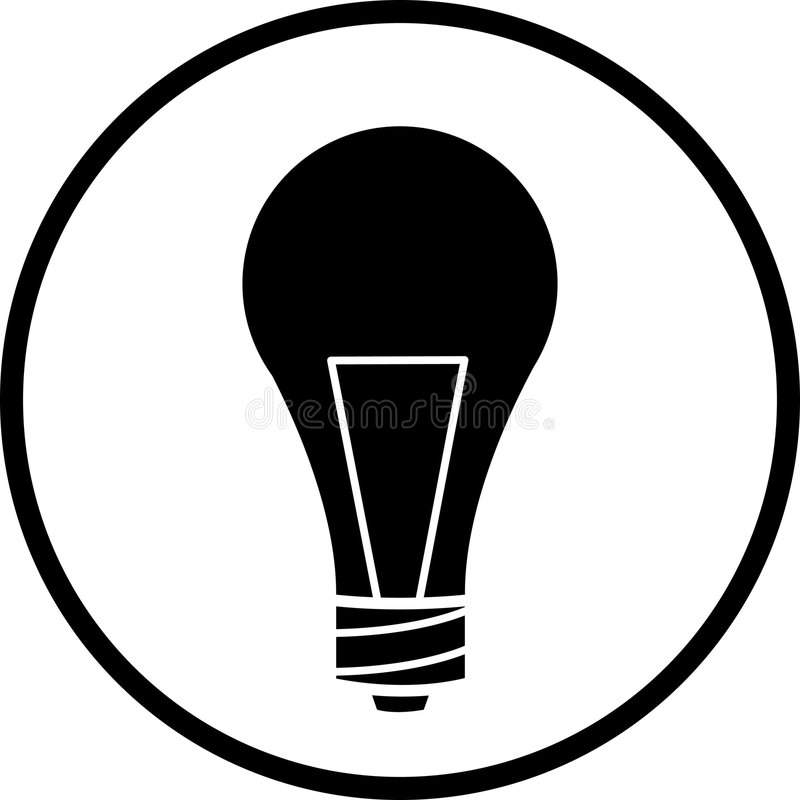 Light Bulb Vector Symbol Stock Vector Illustration Of Electric