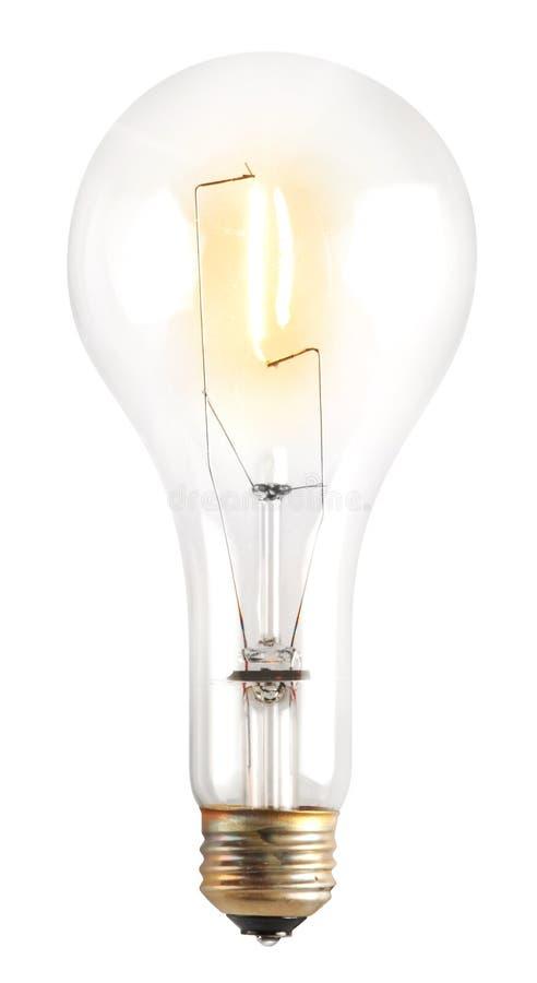 Light bulb on white royalty free stock images