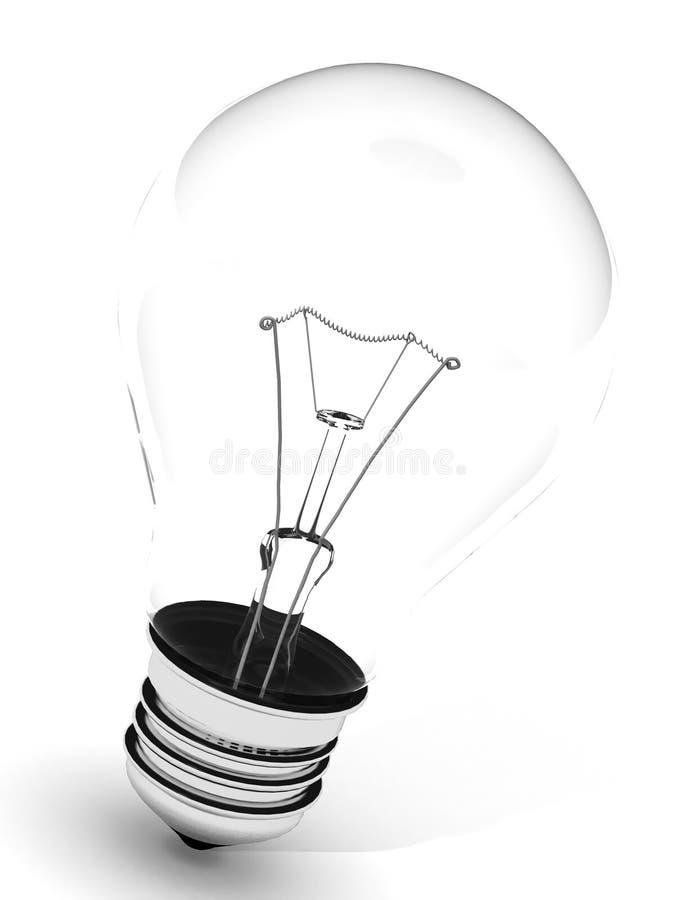 Light bulb on white background stock image