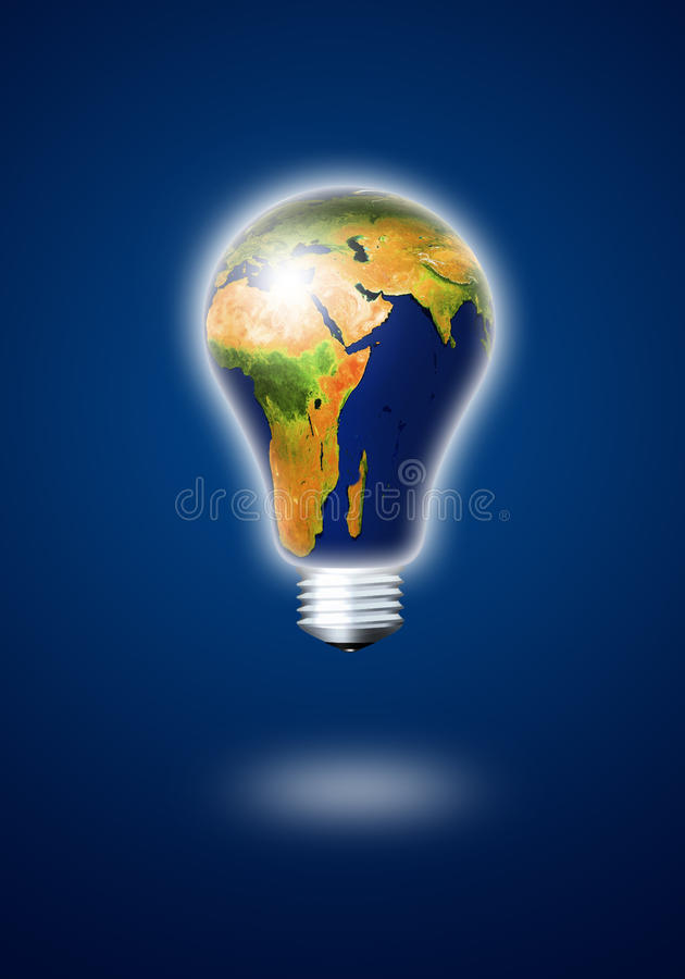 Free Light Bulb With Planet Earth Royalty Free Stock Photos - 22703958