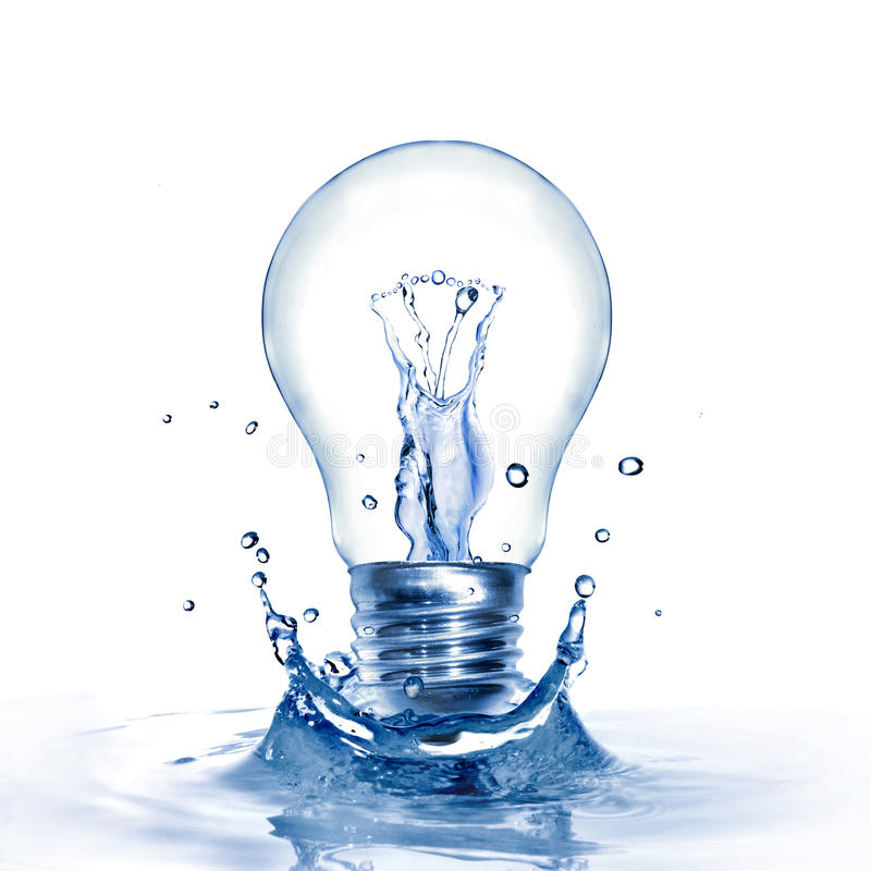 Free Light Bulb With Water And Splash Stock Images - 13767434