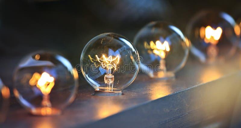 Light bulbs stock images