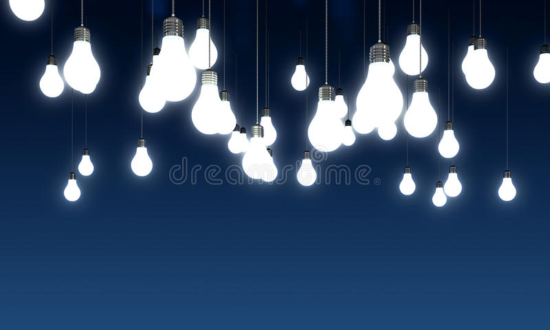 Light bulbs stock illustration