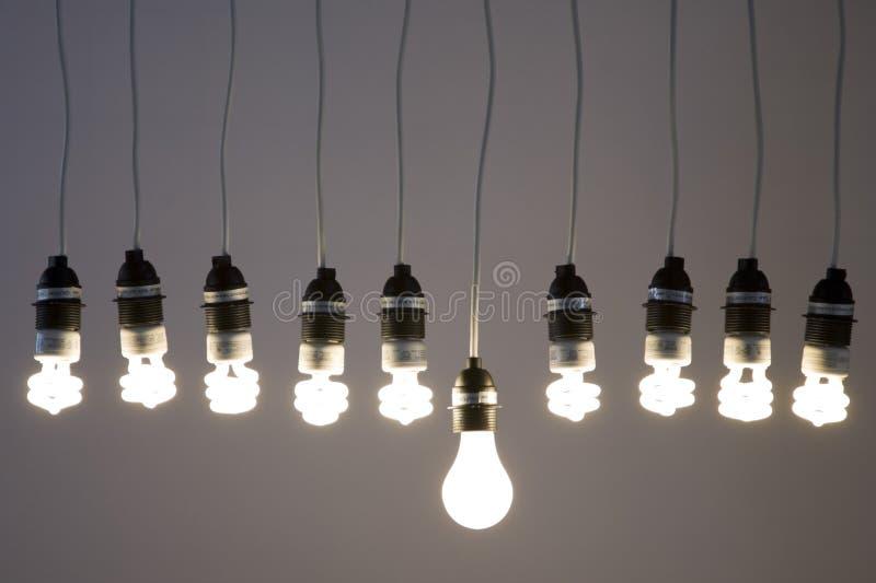 Light bulbs stock photos