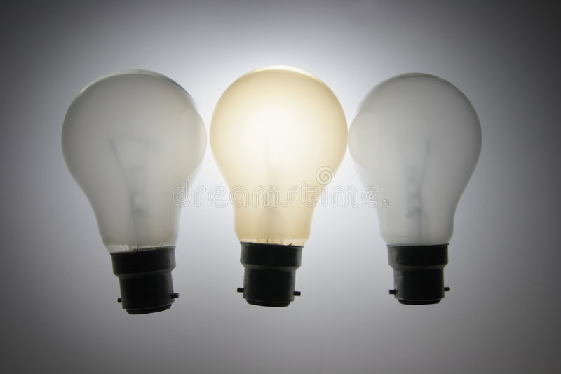 Download Light Bulbs stock image. Image of illuminate, different - 5465479