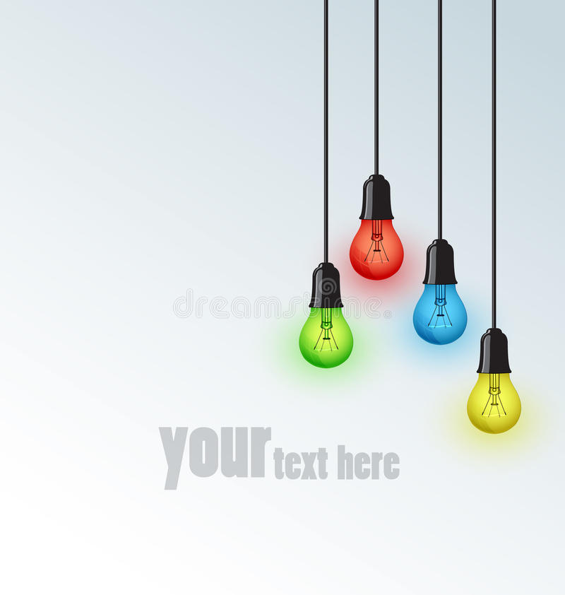 Light bulbs stock illustration