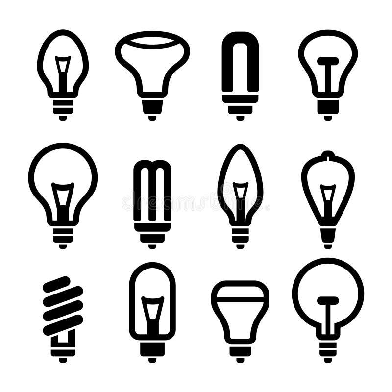 Free Light Bulbs. Bulb Icon Set 2. Vector Royalty Free Stock Photography - 39092397