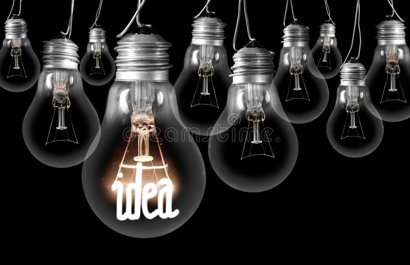 Light Bulbs with Idea Concept royalty free stock image
