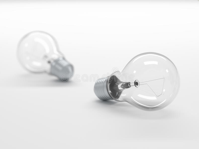 Download Light Bulbs With Depth Of Field Stock Illustration - Image: 26588828