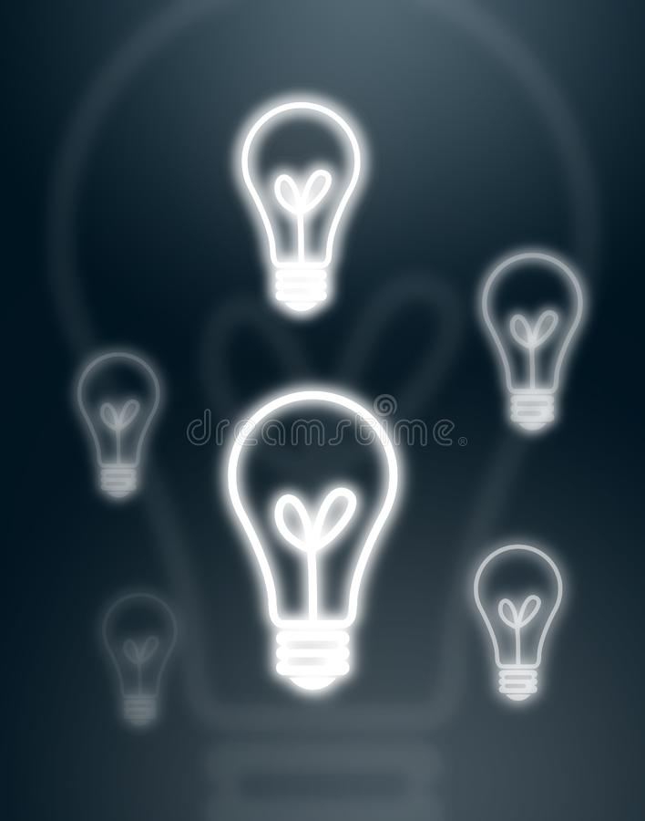 Download Light Bulbs On Gray Background Stock Illustration - Illustration of bright, lamp: 16034987