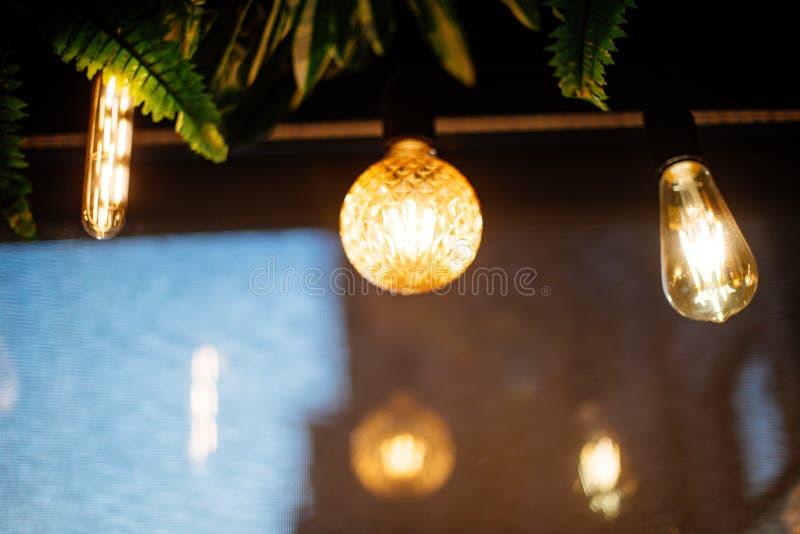 Incandescent light bulb. stock photo