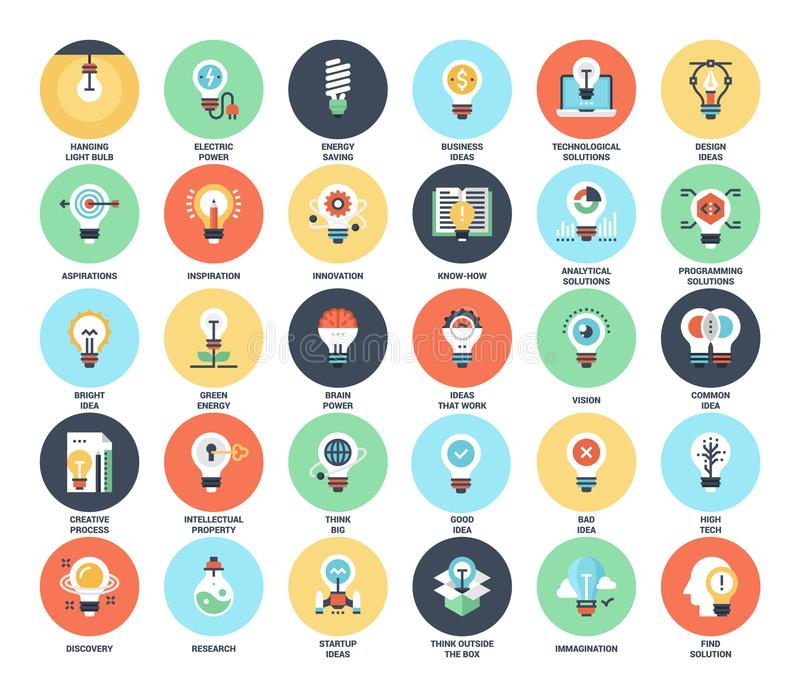 Light bulbs icons vector illustration