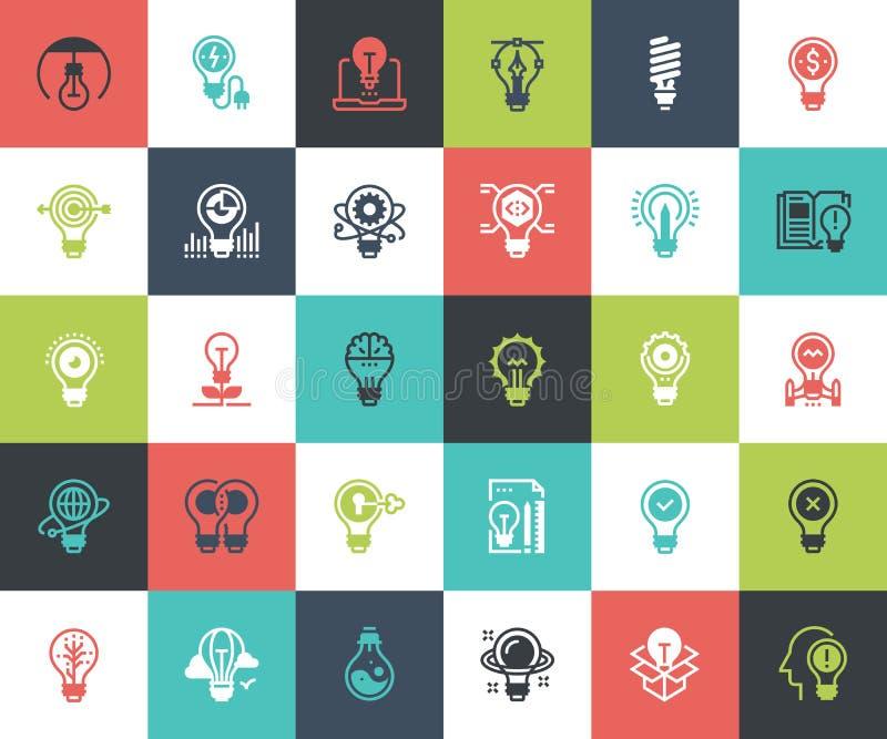 Light bulbs icons royalty free illustration