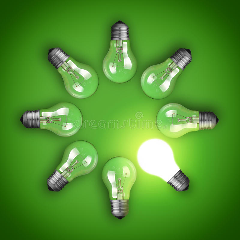 Light bulbs stock photos