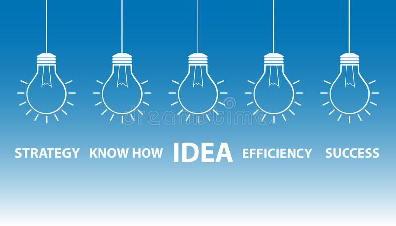 Light bulbs - Idea strategy concept royalty free illustration