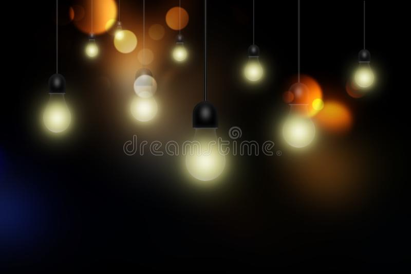 Light bulbs vector illustration