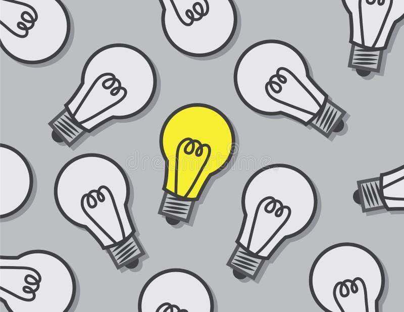 Light Bulbs One On royalty free illustration