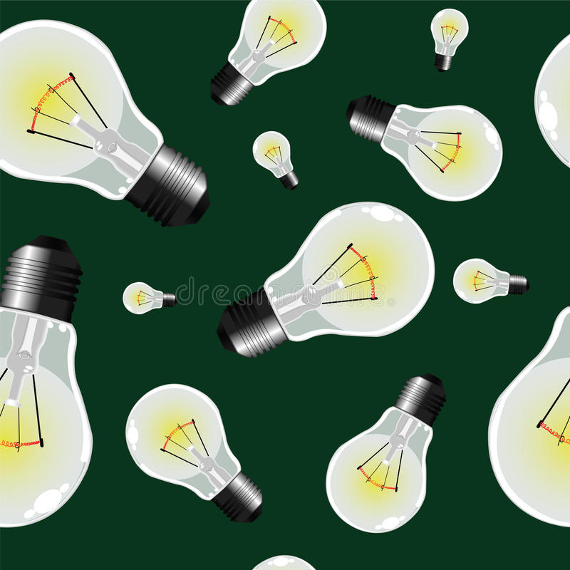 Light bulbs seamless texture royalty free stock photos