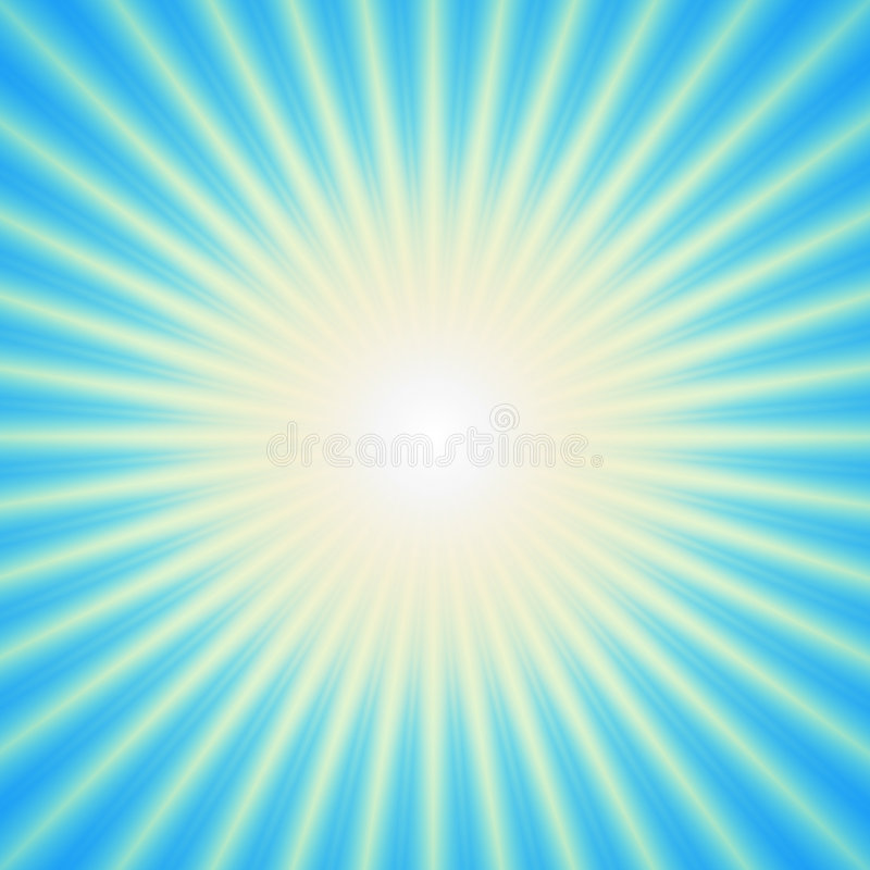 Free Light Burst Over Cyan Background Royalty Free Stock Photography - 2710437