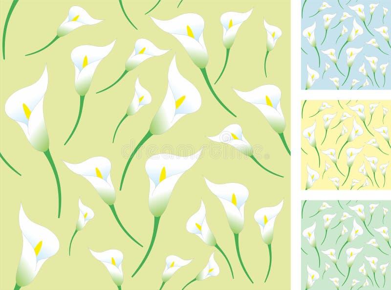 Light calla backgrounds vector illustration