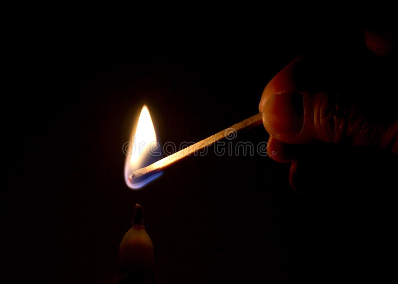 Download Light a Candle stock photo. Image of white, flicker, wood - 18013870