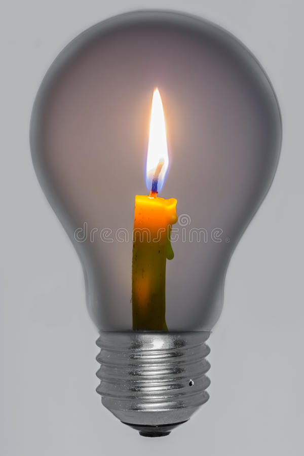 Light From Candles In Lamps. Royalty Free Stock Photography