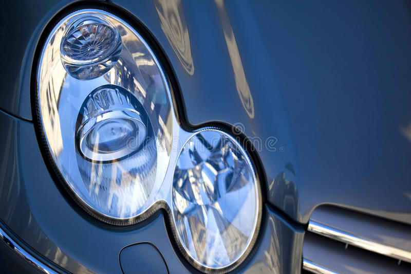 Light and car body stock photography