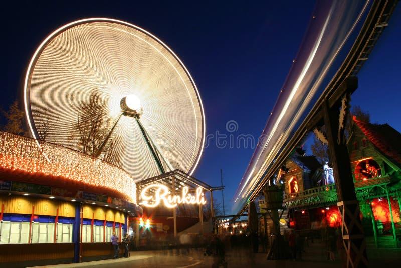 Light Carnival in Helsinki royalty free stock image