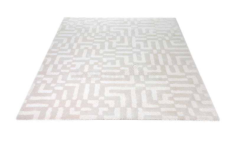 Light carpet with pattern royalty free stock image