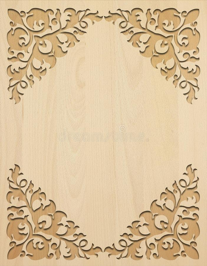 Light carved wooden background. stock photography